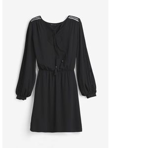 White House Black Market Peasant Blouson Dress 2
